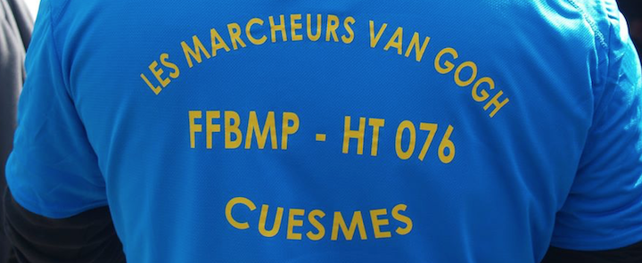 LES MARCHEURS VAN GOGH DE CUESMES Organisent une marche dans le cadre du Chalenge de l'ACHO-Interview d'un randonneur.