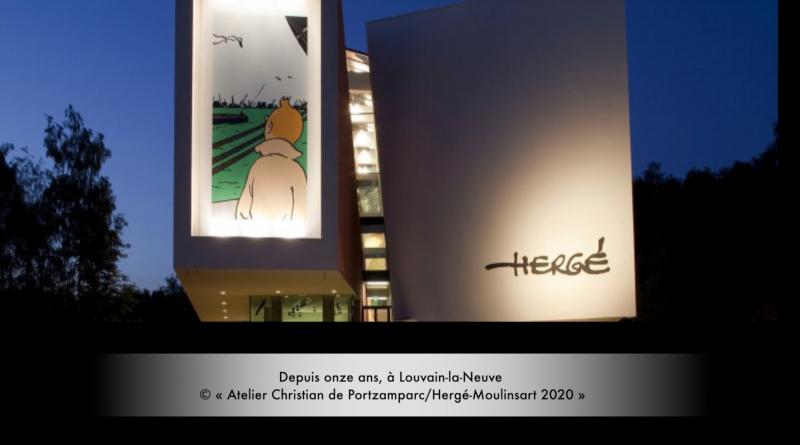 Depuis onze ans, à Louvain-la-Neuve © « Atelier Christian de Portzamparc/Hergé-Moulinsart 2020 »