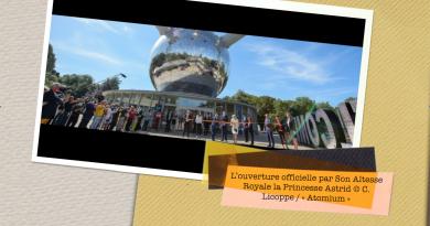 RÉOUVERTURE OFFICIELLE DE L' « ATOMIUM » ET DE SON EXPOSITION SUR BREUGHEL, CE 1ER JUIN